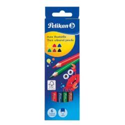 Pelikan Ξυλομπογιές Χονδρές Τριγωνικές 6 χρώματα 724021 4012700724021