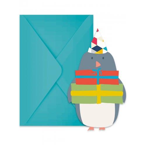 PROCOS Die-Cut Invitations and Envelopes (6 pieces) 089747 5201184897478