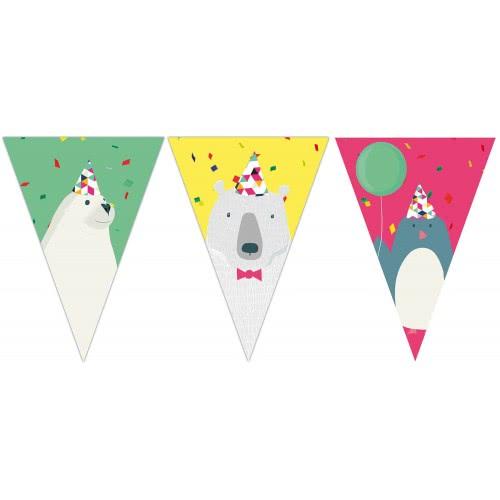 PROCOS Γιρλάντα Τρίγωνη Πλαστική Αρκτική (9 σημαιάκια) 089693 5201184896938