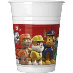 PROCOS Paw Patrol - Ready For Action Ποτήρια Πλαστικά (8 τεμάχια) 089776 5201184897768