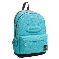 GIM Back Me Up School Backbag 2 Compartments Paul Eva, Turquoise 346-57034 5204549111967