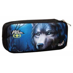 NO FEAR Back Me Up Dark Wolfs Pencil Case Oval 347-21141 5204549112070