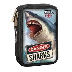 NO FEAR Back Me Up Shark Κασετίνα Διπλή Γεμάτη 347-40100 5204549112117