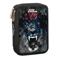 NO FEAR Back Me Up Digital Wolf Pencil Case Full 347-46100 5204549112346