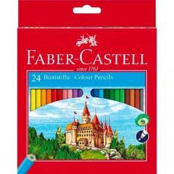 Faber-Castell Ξυλομπογιές Κάστρο σετ 24χρώματα 120124 7891360580065