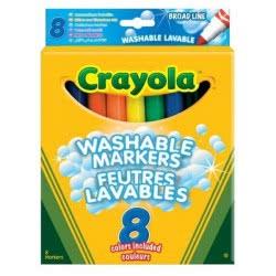 Crayola 8 χονδροί μαρκαδόροι washable 58-8328-E-000 071662083281