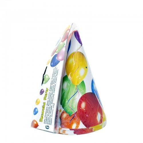 PROCOS Decorata Balloons Fiesta Καπελάκια Πάρτυ - 6 Τεμάχια 009747 5201184097472