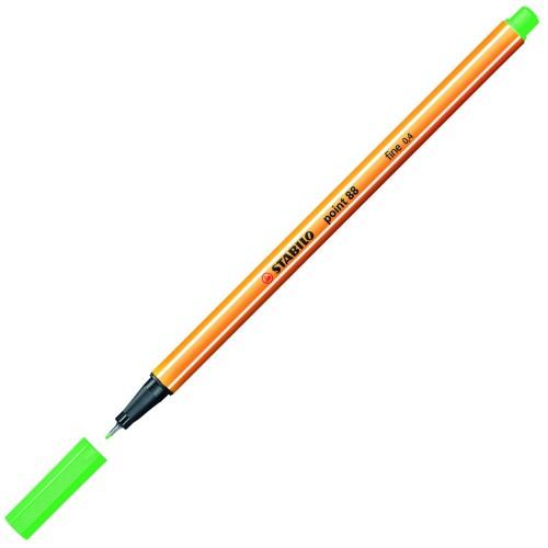 STABILO Fineliner Point Μαρκαδόρος Ακίδας 0,4mm 88/16 Πράσινο 88/16 4006381492973