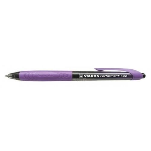 STABILO Στυλό Performer + Fine Μαύρης Γραφής - Μωβ με Μαύρο 328/1-46-3 9556091158317