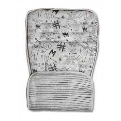 Minene Κάλυμμα Καροτσιού Διπλής Όψης Graffity - Grey Stripes, Γκρι 40357 7297476160489