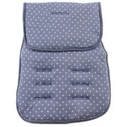 Minene Pushchair Liner Jersey Blue with Stars MN3020 7297476090113