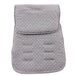 Minene Pushchair Liner Jersey With Stars, Grey 3021 7297476090120