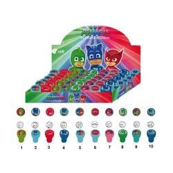 Diakakis imports PJ Masks - Πιτζαμοήρωες Σφραγίδα Στρογγυλή με Αυτοκόλλητο - 10 Σχέδια 484096 5205698256585