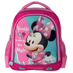 Diakakis imports Minnie Mouse Kindergarten Backpack Pink 27X10x31cm 561936 5205698242335