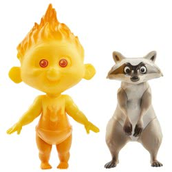 JAKKS PACIFIC The Incredibles 2 The Incredible and Jack Raccoon Figures, Pack of 2 74950 039897749501