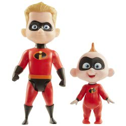 JAKKS PACIFIC The Incredibles 2 The Incredible and Jack Dash Figures, Pack of 2 78185 039897781853