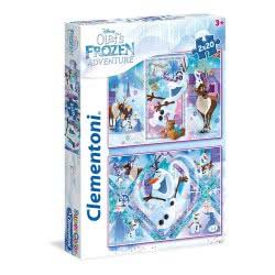 Clementoni Super Color Puzzle Olaf`S Frozen Adventure, 2X20pcs 1200-24752 8005125247523
