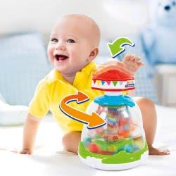 Clementoni baby Βρεφικό Παιχνίδι Σβούρα με Ζωάκια - Animals Fun Park 1000-17193 8005125171934