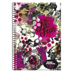 NO FEAR Back Me Up  Notebook A4 Spiral 2 Issues - 2 Designs 347-15440 5204549113763