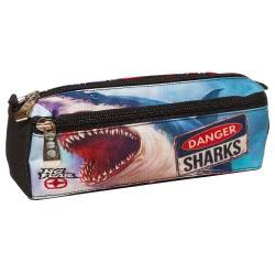 NO FEAR Back Me Up Danger Sharks Pencil Case 347-40140 5204549112124