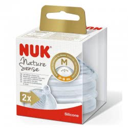 NUK Nature Sense Silicone Nipple Μ, 0-6 Months 10709285 4008600279440