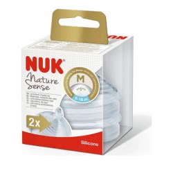 NUK Nature Sense Silicon Nipple Size Μ, 6-18 Months 10721307 4008600279273