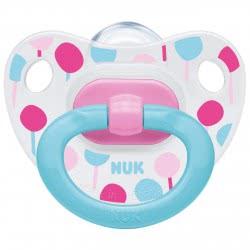 NUK Classic Happy Days Πιπίλα Σιλικόνης, 6-18 Μηνών - 4 Σχέδια 10736198 4008600286110