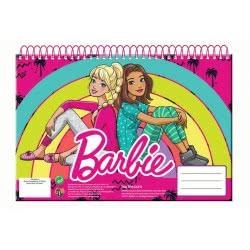 GIM Μπλοκ Ζωγραφικής Α4 Σπιράλ 30Φύλλα Barbie 349-60413 5204549114296