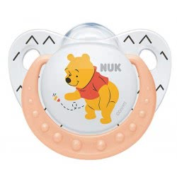 NUK Trendline Disney Baby Winnie the Pooh Pacifier, 0-6 Months - 3 Designs 10730122 4008600285779