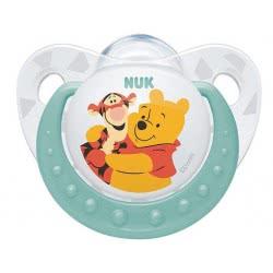 NUK Trendline Disney Baby Winnie the Pooh Pacifier, 6-18 Months - 3 Designs 10733322 4008600286028
