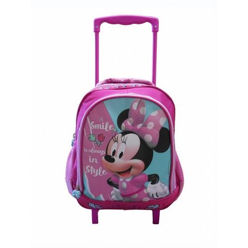 0a36ed3ef2a Diakakis imports Minnie Mouse Σακίδιο Τρόλλεϋ Νηπιαγωγείου 27x10x31cm 561937  5205698242359