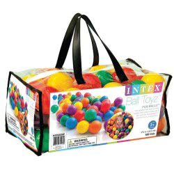 INTEX Τσάντα Με 100 Μπαλίτσες 6.5Cm Small Fun Ballz 49602 078257496020
