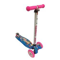 ΑΘΛΟΠΑΙΔΙΑ Three Wheels Scooter with Lighting Wheels Pink - Blue Design 4 002.61210/4 5202200001473