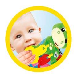 Clementoni baby Βρεφικό Παιχνίδι Κουδουνίστρα Δεινοσαυράκι 2 Σε 1 1000-17215 8005125172153