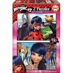 EDUCA Miraculous Ladybug Puzzle 2X100 Pcs 17277 8412668172777