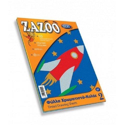 SKAG Ζazoo Φύλλα Χρωματιστά Κολάζ 10 Φύλλα Νο 2 - 1 τμχ 221221 5201303221221