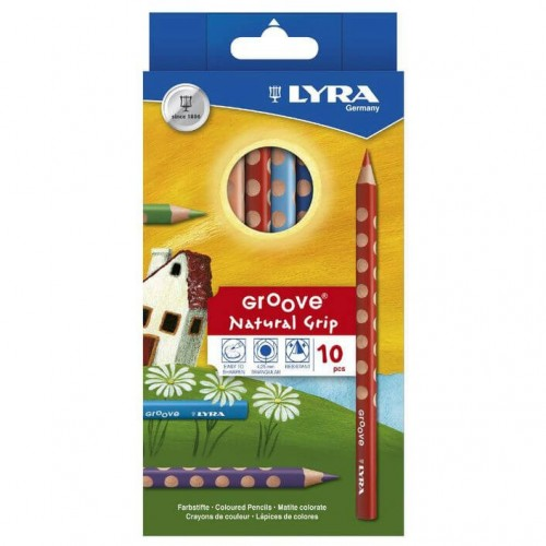 FILA Ξυλομπογιές Σετ 10τεμ Lyra Groove Natural Grip 3811100 4084900303085