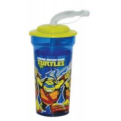 GIM Teenage Mutant Ninja Turtles Mash Up Παγουρίνο Με Καλαμάκι 450Ml 555-44225 5204549102552