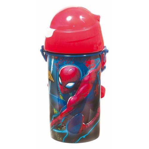 GIM Spiderman Colors Παγουρίνο Flip με Καλαμάκι 500ml 557-38209 5204549108677