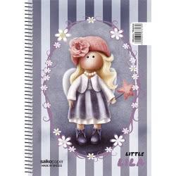 salko paper Τετράδιο Σπιράλ Little Girl 3 Θεμάτων 180 Σελίδες - 4 Σχέδια 7613 5202832076139