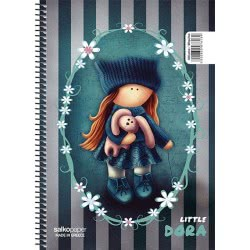 salko paper Spiral Notebook Little Girl 4 Issues 240 Pages 17x25 - 4 Designs 7614 5202832076146