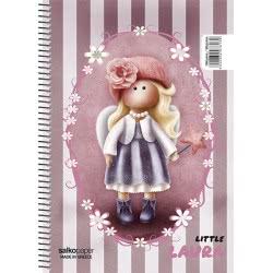 salko paper Τετράδιο Σπιράλ Little Girl 4 Θεμάτων 240 Σελίδες - 4 Σχέδια 7614 5202832076146