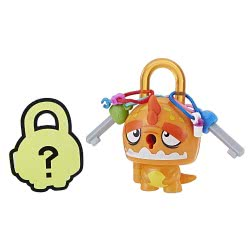 Hasbro Lock Stars Basic Σειρά 1 Μίνι Λουκετάκι Πορτοκαλί Δεινόσαυρος E3103 / E3170 5010993523733
