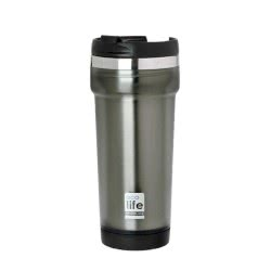 eco life Coffee Thermos Grey 420Ml (Plastic Outside) 33-BO-4010 5208009001539