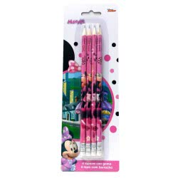 Group Operation Minnie Mouse Set of 4 Pencils AST4411 8422535934537