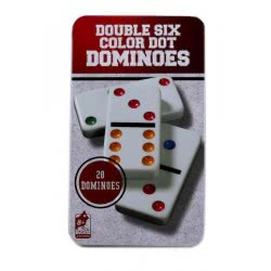 Group Operation Double Six Color Dot Domino In Metalic Case BT939754 6929397540804