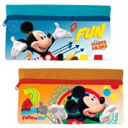 Group Operation Mickey Mouse Pencil Case Wallet - 2 Colors AST1212 8422535871306