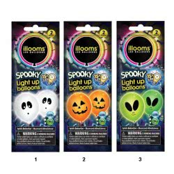 GIOCHI PREZIOSI Illooms Spooky - Light Up Balloons LED 2 Pieces - 3 Colours LLM07000 8056379047490