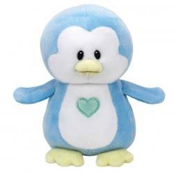 ty Beanie Boos Βρεφικό Χνουδωτό Πιγκουΐνος Μπλε 15Εκ. 1607-32158 008421321582