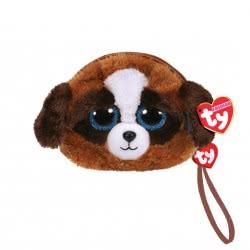 ty Beanie Boos Χνουδωτό Πορτοφολάκι Σκύλος Άσπρος - Καφέ 1607-95210 008421952106